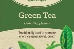 ORGANIC TRADITIONALLY USED TO PROMOTE ENERGY & GENERAL WELL-BEING HERBAL SUPPLEMENT GREEN TEA BAGS