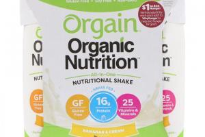 Organic Nutrition Shake - Bananas & Cream