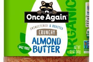 Organic Crunchy Almond Butter 12 oz