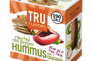 Grab-and-Good TRU FLAVORS® Roasted Red Pepper Hummus Snack Pack