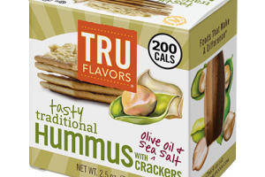 Grab-and-Good TRU FLAVORS® Tasty Traditional Hummus Snack Pack