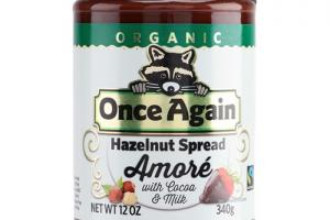 Organic Amoré Hazelnut Spread with Cocoa and Milk