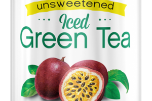 Organic Iced Green Tea - Unsweetened Passion Fruit