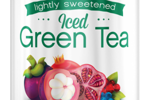 Iced Green Tea Lightly Sweetened Super Fruit