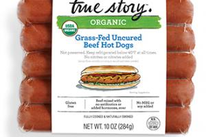 Organic Grass-Fed Uncured Beef Hot Dogs