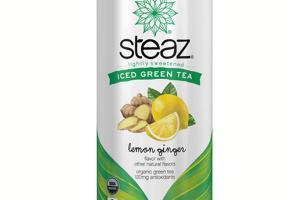 Lightly Sweetened Lemon Ginger Iced Tea