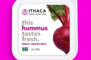 Fresh Lemon Beet Hummus