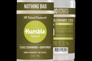 All Natural Deodorant - Texas Cedarwood & Grapefruit