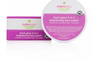 Fresh Glow 3-In-1 Brightening Face Polish, Rhassoul Clay + Turmeric