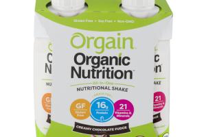 Organic Nutrition Shake - Creamy Chocolate Fudge
