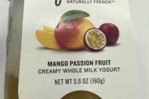MANGO PASSION FRUIT CREAMY WHOLE MILKY YOGURT