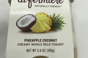 PINEAPPLE COCONUT CREAMY WHOLE MILK YOGURT