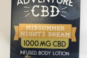 1000 MG CBD INFUSED BODY LOTION, MID SUMMER NIGHT'S DREAM