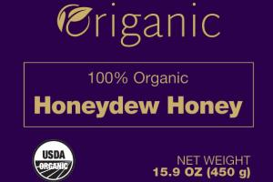 100% Organic Honeydew Honey