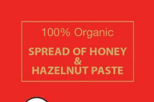 100% Organic Spread Of Honey & Hazelnut Paste