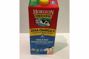 DHA OMEGA-3 ORGANIC REDUCED FAT MILK