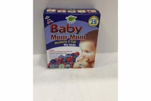 BLUEBERRY & GOJI BABY MUM-MUM RICE RUSKS