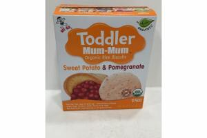TODDLER ORGANIC SWEET POTATO & POMEGRANATE RICE BISCUITS