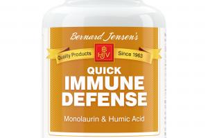 QUICK IMMUNE DEFENSE MONOLAURIN & HUMIC ACID DIETARY SUPPLEMENT CAPSULES