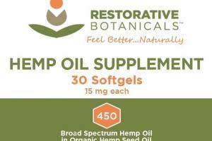 Hemp Oil Softgels Supplement