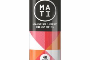 PEACH MANGO SPARKLING ORGANIC ENERGY DRINK