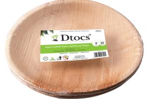 HAND CRAFTED PALM LEAF ROUND PLATES