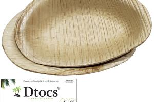 100% NATURAL HAND CRAFTED PALM LEAF OVAL DISH