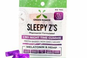 SLEEPY Z'S MELATONIN & HEMP 50MG CBD NIGHT TIME GUMMIE, ASSORTED