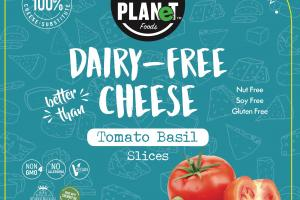 Dairy-free Cheese Tomato Basil Slices