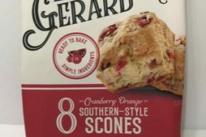 CRANBERRY ORANGE SOUTHERN-STYLE SCONES