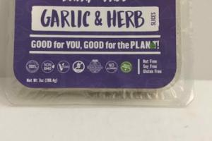 DAIRY-FREE GARLIC & HERB CHEESE SLICES