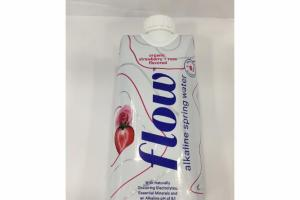 ORGANIC STRAWBERRY + ROSE FLAVORED ALKALINE SPRING WATER