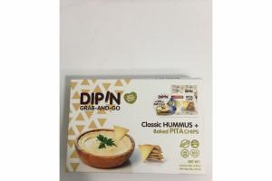 CLASSIC HUMMUS + BAKED PITA CHIPS