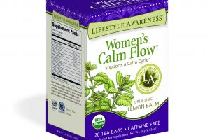 UPLIFTING LEMON BALM SUPPORTS A CALM CYCLE HERBAL TEA SUPPLEMENT