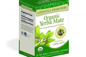 ENERGIZING YERBA MATE PROMOTES ENERGY AND VITALITY HERBAL TEA SUPPLEMENT