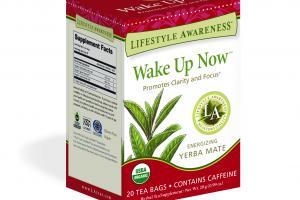 WAKE UP NOW ENERGIZING YERBA MATE HERBAL TEA SUPPLEMENT