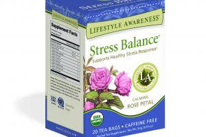CALMING ROSE PETAL SUPPORTS HEALTHY STRESS RESPONSE HERBAL TEA SUPPLEMENT
