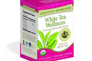 ENERGIZING WHITE TEA PROMOTES HEALTHY WELL-BEING HERBAL TEA SUPPLEMENT