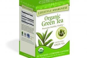 ENERGIZING GREEN TEA PROMOTES HEALTHY VITALITY HERBAL TEA SUPPLEMENT