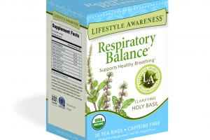 CLARIFYING HOLY BASIL SUPPORTS HEALTHY BREATHING HERBAL TEA SUPPLEMENT