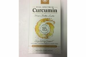 FULL SPECTRUM CURCUMIN DIETARY SUPPLEMENT LIQUID EXTRACT SOFTGELS