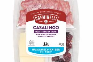 CASALINGO UNCURED ITALIAN SALAMI WITH WHITE CHEDDAR & DRIED CHERRIES ARTISAN CHARCUTERIE SNACK