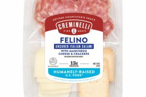 FELINO UNCURED ITALIAN SALAMI WITH MANCHEGO CHEESE & CRACKERS ARTISAN CHARCUTERIE SNACK