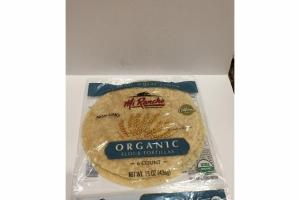 ORGANIC WHEAT FLOUR TORTILLAS