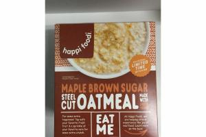 MAPLE BROWN SUGAR STEEL CUT OATMEAL