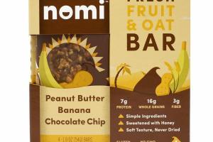 PEANUT BUTTER BANANA CHOCOLATE CHIP FRESH FRUIT & OAT BAR