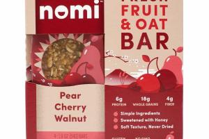 PEAR, CHERRY, WALNUT FRESH FRUIT & OAT BAR