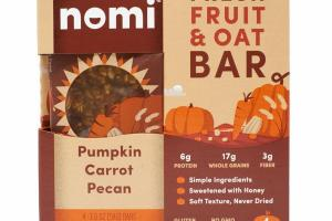 PUMPKIN CARROT PECAN FRESH FRUIT & OAT BAR