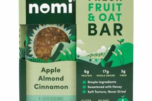 APPLE ALMOND CINNAMON FRESH FRUIT & OAT BAR