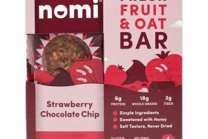STRAWBERRY CHOCOLATE CHIP FRESH FRUIT & OAT BAR
